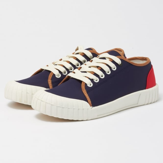 Good News Babe Low Nylon Shoes - Navy & Red