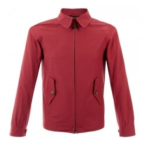 Baracuta G4 Shirt Collar Red Harrington Jacket BRCPS0090