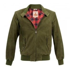 Baracuta G9 Original Military Green Suede Harrington Jacket BRCPS0046