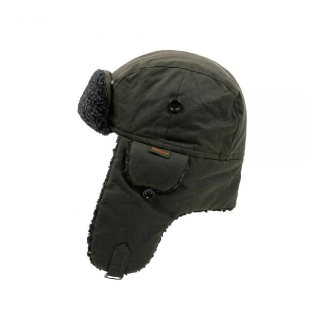 Barbour Accessories Barbour Fleece Lined Hunter Olive Hat MHA0033OL51