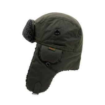 Barbour Fleece Lined Hunter Olive Hat MHA0033OL51