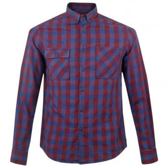 Barbour International Leo Check Red Shirt MSH3538RE96