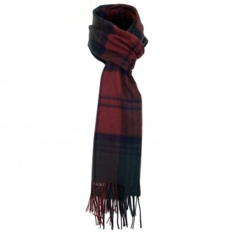 Barbour New Check Red Tartan Scarf USC0137RE751