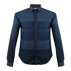 Barbour X White mountaineering Finhara Blue Shirt MSH3596BL78