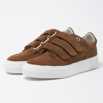 AMI Tabacco Basket Velcro Semelle Sneakers H17S417-910