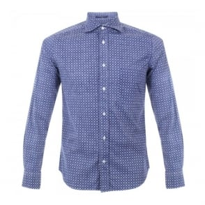 BD Baggies Dexter Blue Seasonal Print Shirt B15017