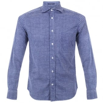 BD Baggies Dexter Blue Seasonal Print Shirt B15017