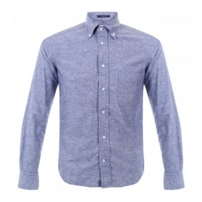 BD Baggies Dexter Denim Micro Polka Dot Shirt B15014