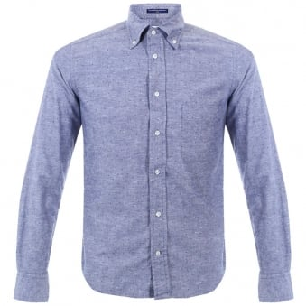 BD Baggies Dexter Denim Micro Polka Dot Shirt B15014