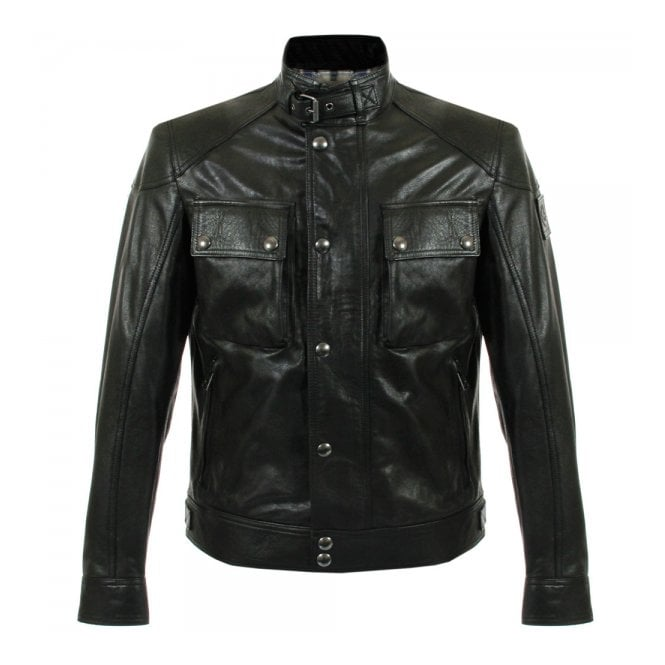 Belstaff Belstaff Racemaster Black Leather Jacket 71020192