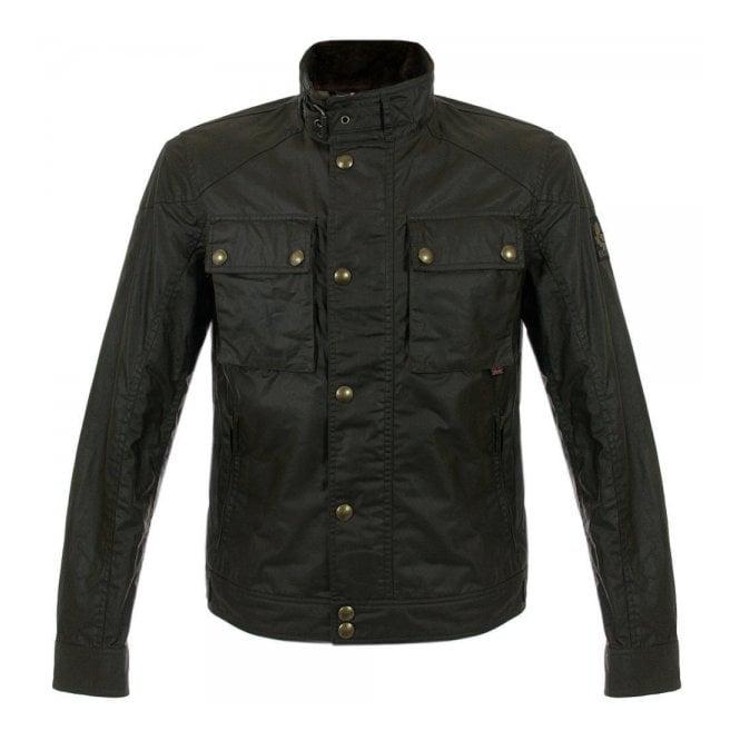 Belstaff Mens Waxed Cotton Racemaster Jacket Grey