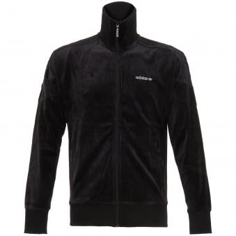Black Challenger Velour Track Top
