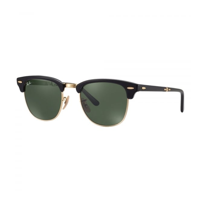 Ray Ban Black Clubmaster Foldable Sunglasses - Classic G15 Lenses