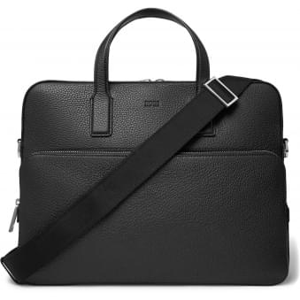 Black Crosstown Leather Briefcase