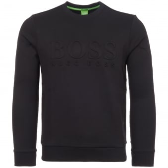 Black Embossed Logo Sweatshirt