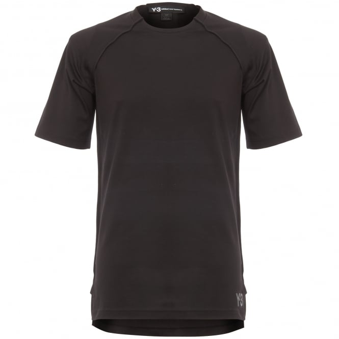 Adidas Y-3 Black Jersey Short Sleeve T-Shirt