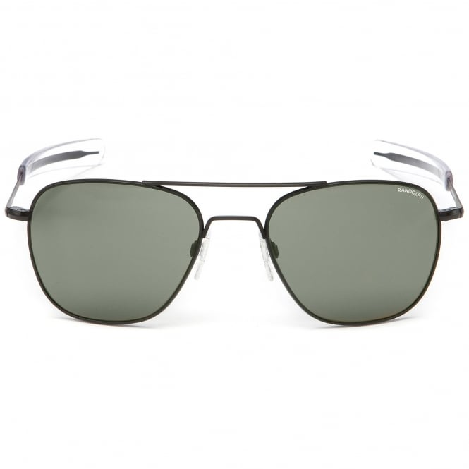 Randolph Sunglasses Black Matte Aviator - 55MM