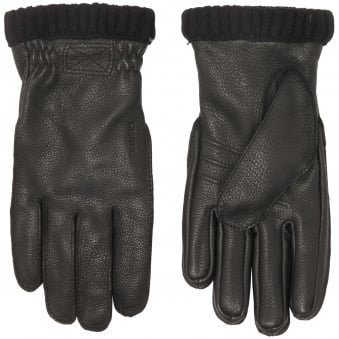 Black Primaloft Deerskin Gloves