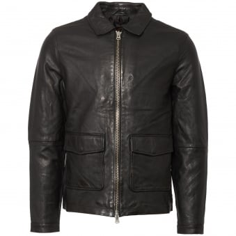 Black Rolf Leather Jacket