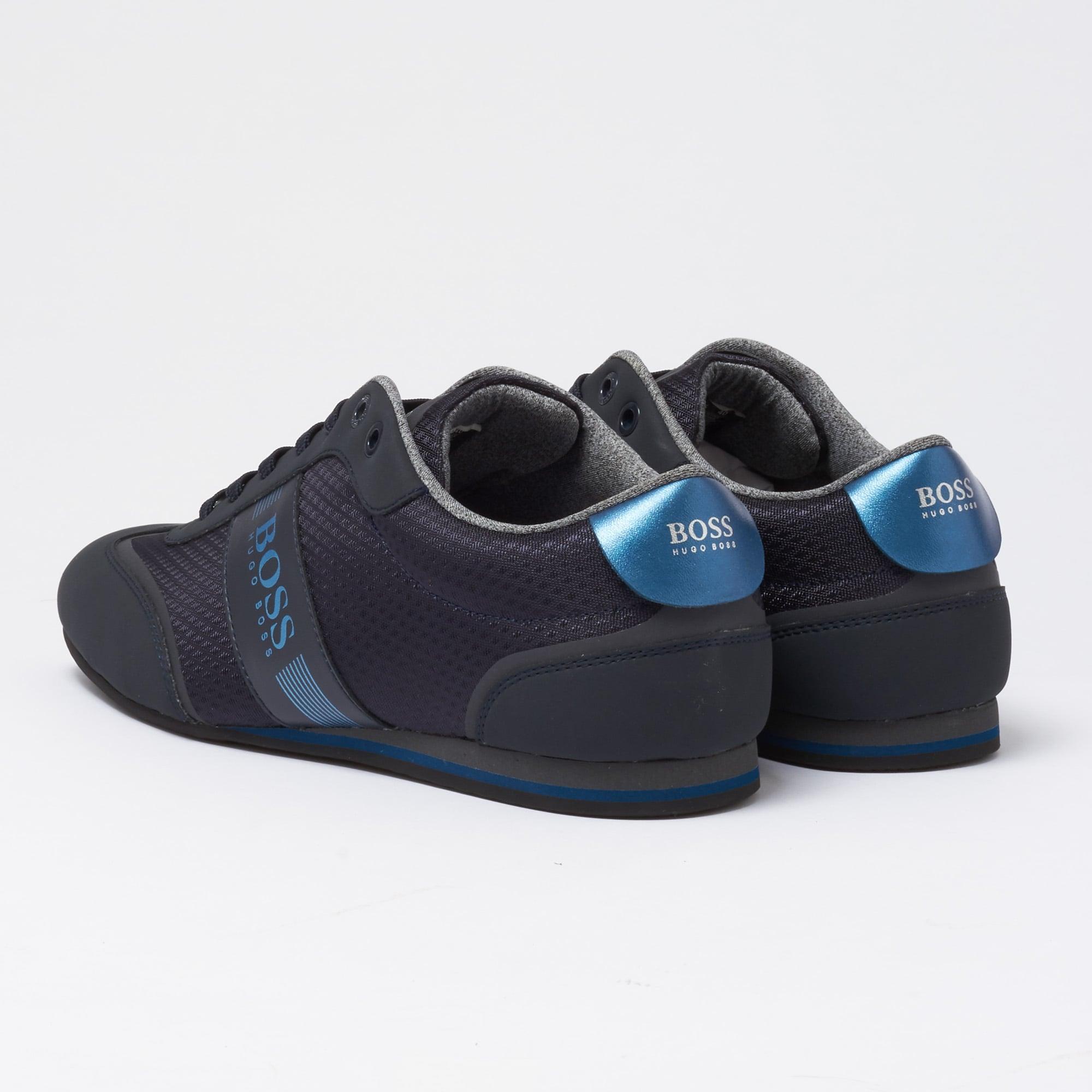 Hugo Boss Dark Blue Low-Top Trainer
