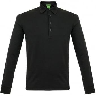 Boss Green C-Paderna 30 Black LS Polo Shirt 50292014