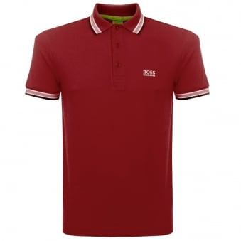 Boss Green Dark Red Paddy Polo Shirt 5030025