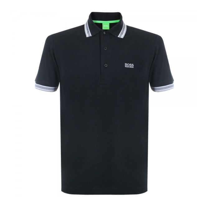 Boss Green Paddy Black Polo Top 50198254
