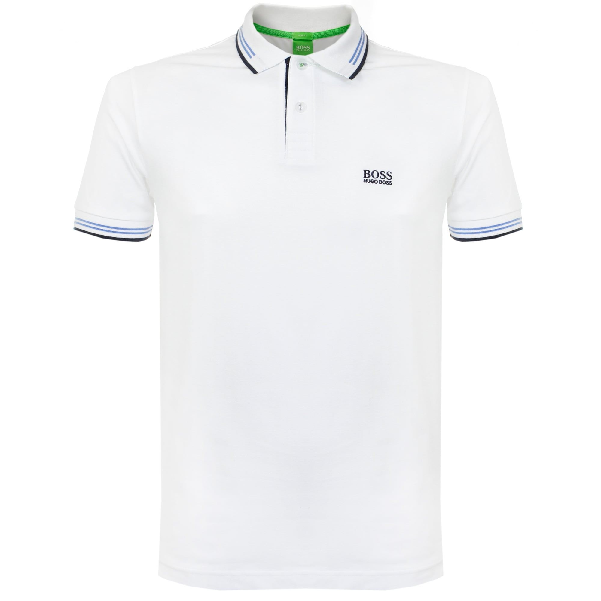 Boss Green Stockist Paul White Polo Shirt