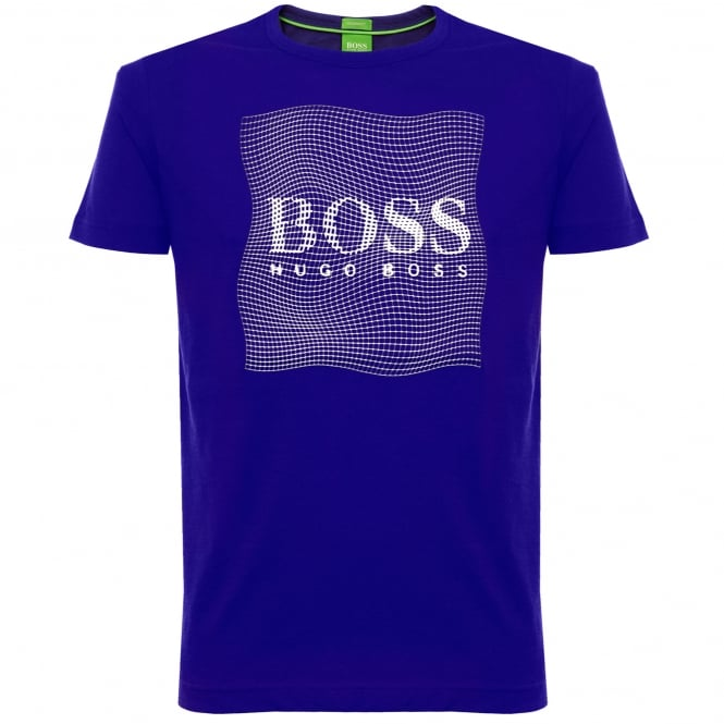 Boss Green Tee 8 Open Blue T-Shirt 50319815