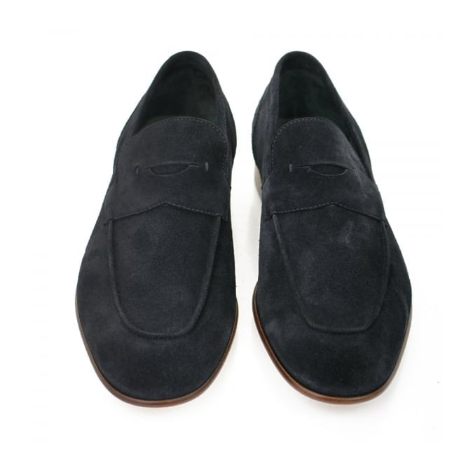 Artiloseo Dark Blue Suede Loafer Shoes