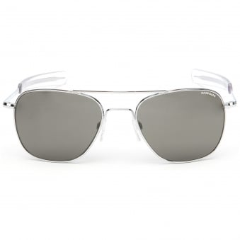 Bright Chrome Aviator - 58MM