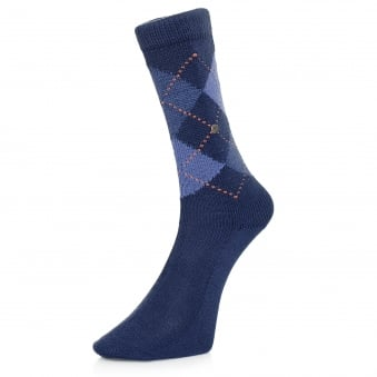 Burlignton Preston Argyle Blue Socks 24284