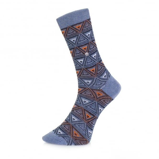 Burlington Socks Burlington Fashion Blue Triangle Socks 20521 6662