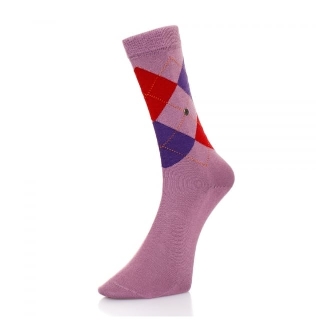 Burlington Socks Burlington Manchester Mercerised Purple Argyle Socks 20182 6328