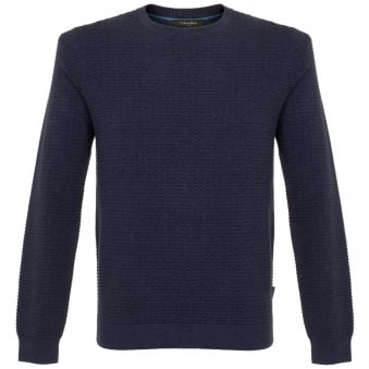 Calvin Klein Sawart Refined Structured Navy Jumper K10K100696