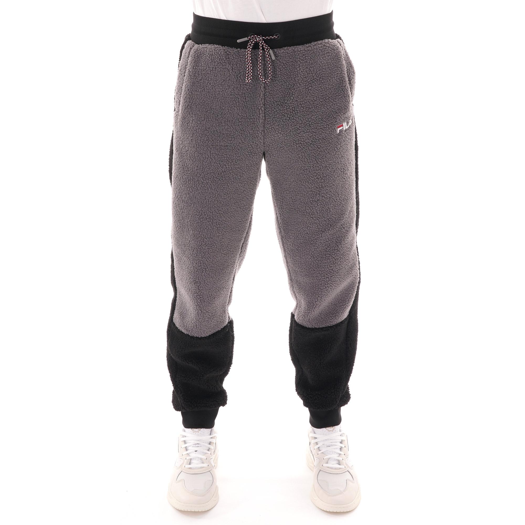 Fila Vintage Camillo Sherpa Track Pants Black