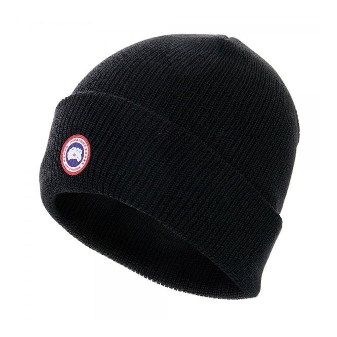 b4a0438e9a0 Canada Goose Black Merino Wool Beanie 5219M