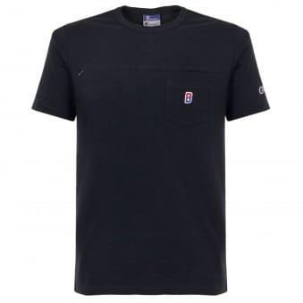 Champion X Beams Pocket Navy T-Shirt 210630