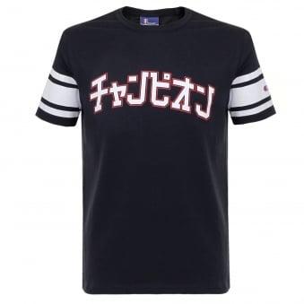 Champion X Beams Reverse Weave University Navy T-Shirt S7IFA1IT39