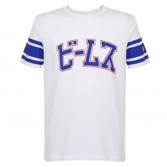 Champion X Beams Reverse Weave University White T-Shirt S7IFA1IT39