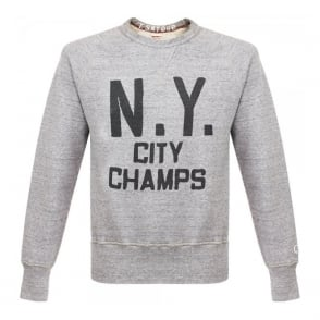 Champion X Todd Snyder New York Grey Heather Sweatshirt D518865
