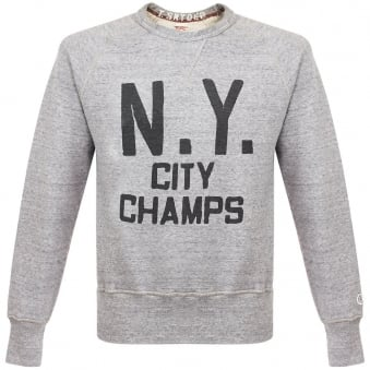 Champion X Todd Snyder New York Grey Heather Sweatshirt D518865