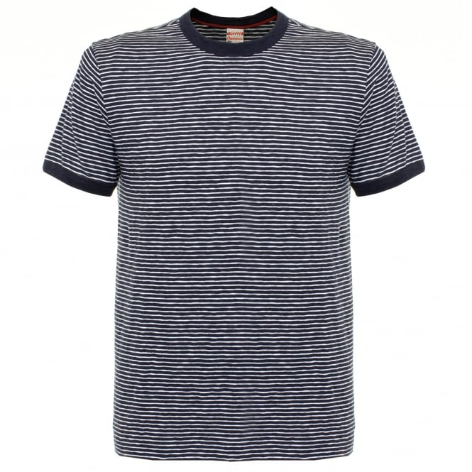 Champion X Todd Snyder Striped Navy T-shirt D449X66