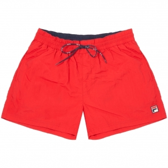Chinese Red Artoni Swim Shorts
