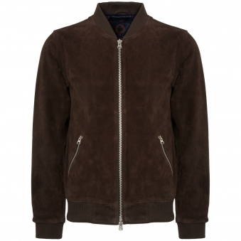 Chocolate Double Texture Suede Russel Jacket