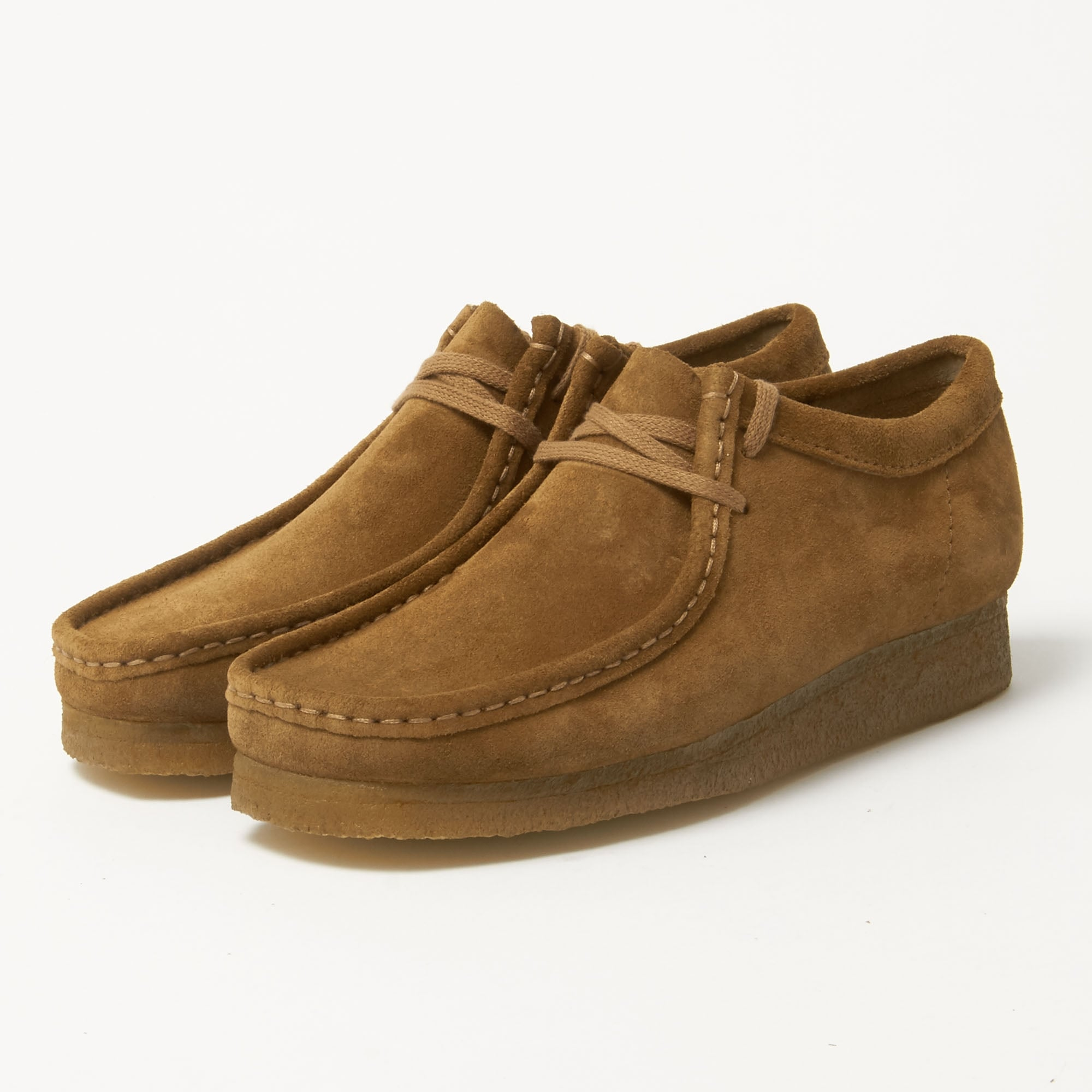 Clarks Originals Chaussures En Dentelle Wallabee Up En Daim Cola - Tan 6LfvukZ