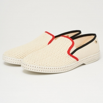 Classic 20° Canvas & Mesh Moccasins - Hot Rod