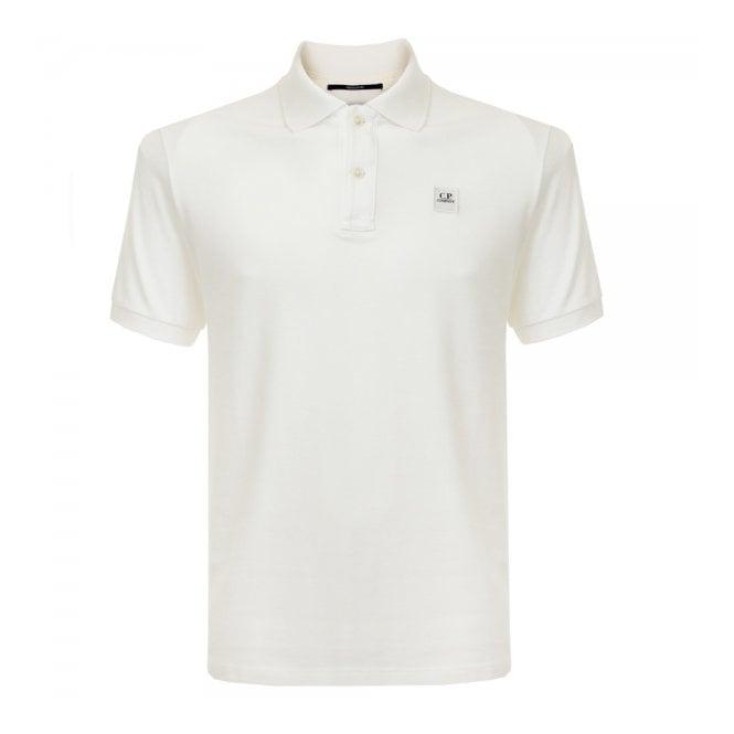 CP Company Pique Ivory Polo Shirt 15WCPUT02697