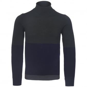 Dark Green & Navy Jaques Turtleneck