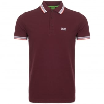 Dark Red Knitted Pique Polo Shirt